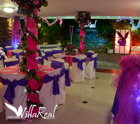 Quinces banquetes villareal for Decoracion xv anos 2017