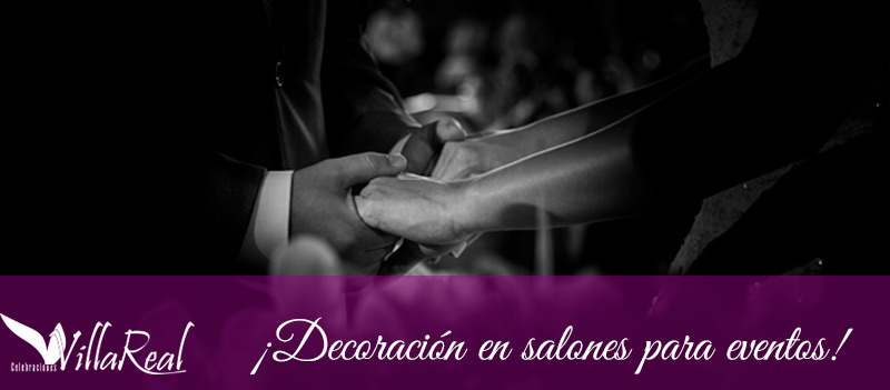 Tendencias decorativas en bodas y los salones para eventos